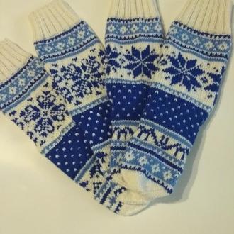 Новогодние носки Снежинки