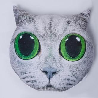 """Подушка фигурная """"Кот с большими глазами"""""""