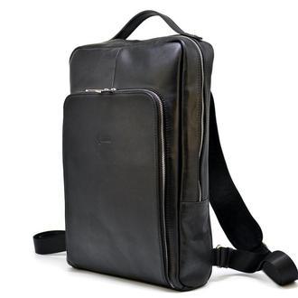 """Кожаный рюкзак для ноутбука 15"""" дюймов TA-1240-4lx в черном цвете"""