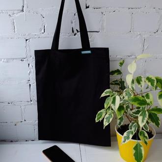 Сумка для покупок, эко сумка, торба, эко пакет, черный шоппер 40