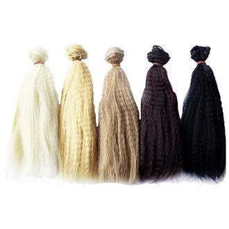 Волосы кукольные пышные 15 см, 1 м
