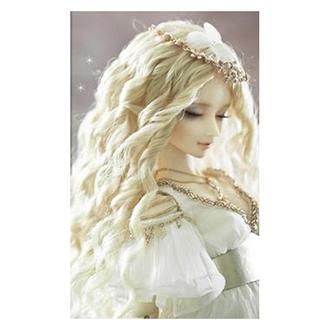 Волосы кукольные вьющиеся на ленте 100х15 см