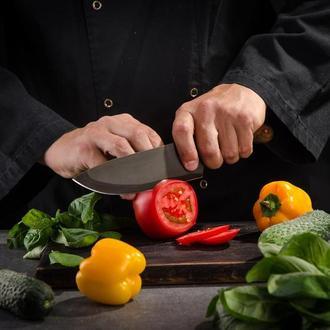 Кованный шеф нож з зонной закалкой на заказ