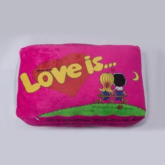 """Подушка """"Love is..."""" размер 3"""