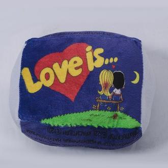 """Подушка """"Love is..."""" размер 1"""