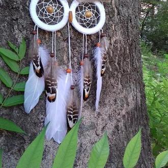 Белый ловец снов сова