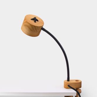 Лампа на струбцине Кнопка