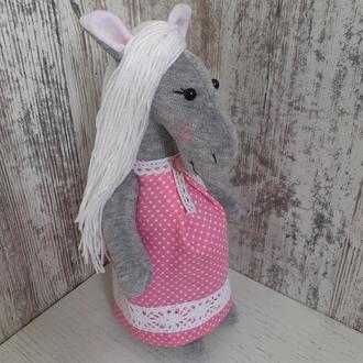 Лошадь девочка из ткани игрушка