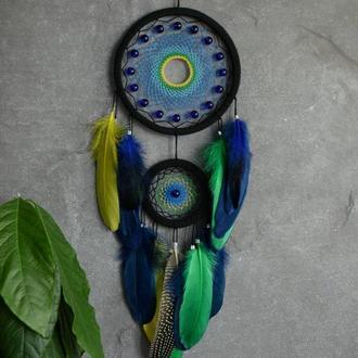 Ловец снов тропики, декор и оберег снов, оригинальный подарок близким и друзьям