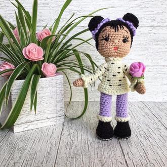 Вязаная кукла Маришка. Высота 18 см