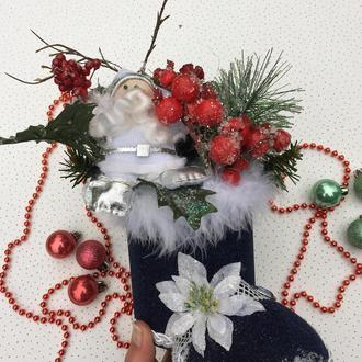 Декор новогодний - сапог