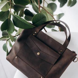 Женская сумка из натуральной кожи, кожаная сумка для девушки