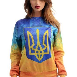 """Свитшот  """"Тризуб на флаге Украины"""""""