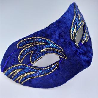 Карнавальная маска «Синее пламя»