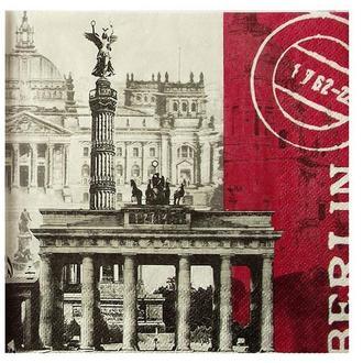 Салфетка Берлин черно-белая 2-7100