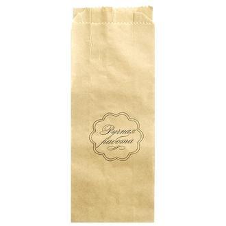 Пакет упаковочный бумажный с надписью Ручная работа (круг)