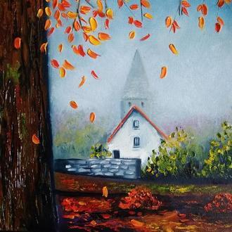 Картина маслом Увядание листьев