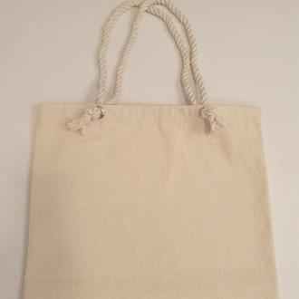 Объемная сумка шоппер с канатами