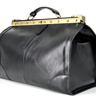Эксклюзивный саквояж ридикюль из телячьей глянцевой кожи TARWA TA-1221 среднего размера дорожная