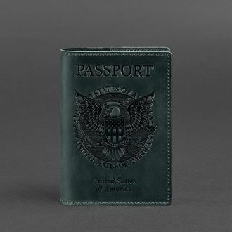 Обложка для паспорта с американским гербом, Изумруд
