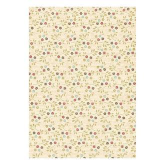 Бумага дизайнерская А4 (200 гр/м) Мелкие цветочки на бежевом