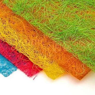 Сизаль натуральный цветной в листах А4