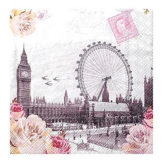 Салфетка Вид на Лондон 2-7162