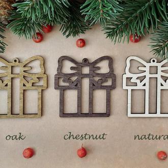 Елочная игрушка подарок, новогодние игрушки, игрушки на елку. (SF014)