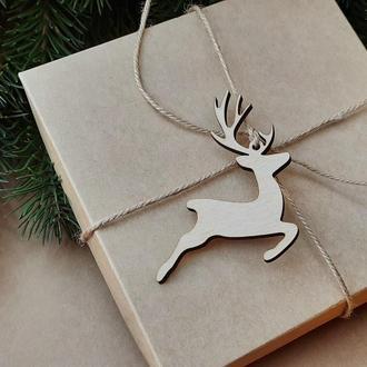 Игрушка на елку олень, новогодние игрушки, новогодние украшения. (SF018)