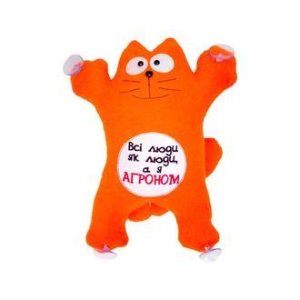 """Авто игрушка кот  Саймон  """"Всі люди як люди"""" на присосках 27см"""