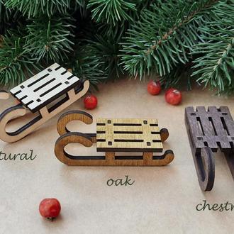 Игрушка на елку санки, елочные игрушки, новогодние игрушки (SF019)