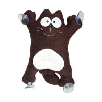 Авто игрушка кот  Саймон коричневый на присосках 40см