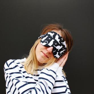 Маска для сна - коты киев, корпоративні подарунки Київ, повязка на глаза киев, маска для сна собаки