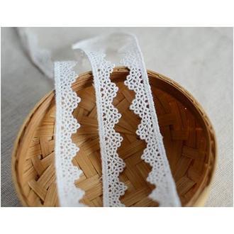 Кружево белое Ажурные треугольники, 1,2 см