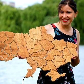 Дерев'яна карта України