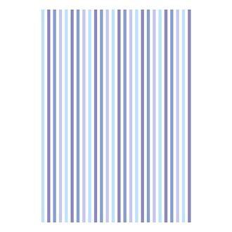 Бумага дизайнерская А4 (200 гр/м) Полоски сиренево-голубые