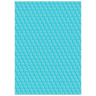 Бумага дизайнерская А4 (250 гр/м) Белые волны на голубом