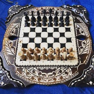 Шахматы-нарды-шашки 3 в 1 «Скорпион»
