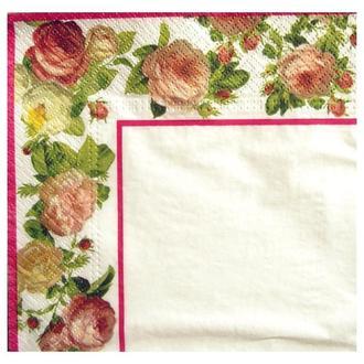 Салфетка Кайма из роз белая 2-7270
