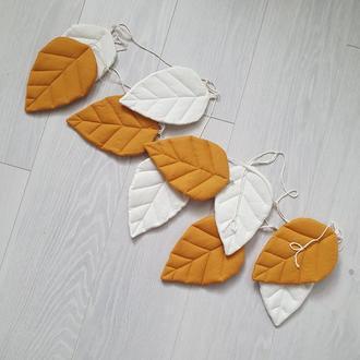 Гирлянда из листиков Orange leaves