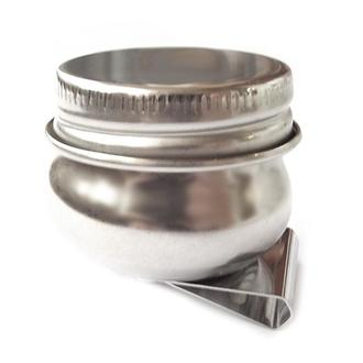 Масленка металлическая одинарная с крышкой 3,6 х 2 см