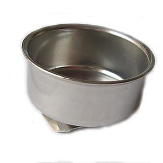 Масленка одинарная металлическая с ободком 11001