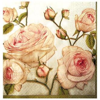 Салфетка Красота розы 25 см  2-7347