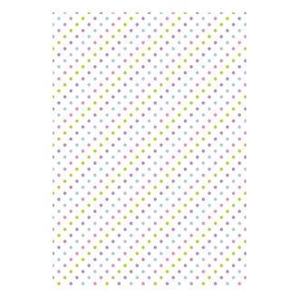 Бумага дизайнерская А4 (200 гр/м) Пастельные горошки