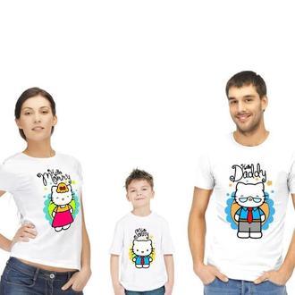 """ФП005675Футболки Фэмили Лук Family Look для всей семьи """"Рисованные коты"""" Push IT"""