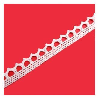 Кружево Зиг-заг белое  хлопок, 1 см