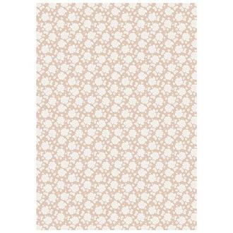 Бумага дизайнерская А4 (250 гр/м) Белые розы на бежевом