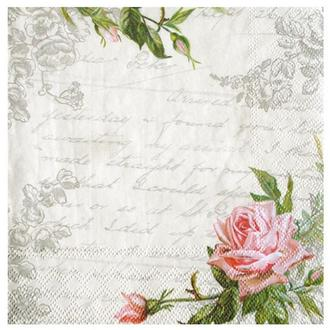 Салфетка Любовное письмо с розой 2-7150