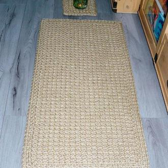 Эко коврик из джута (50х100см) для ванной, спальни, кухни, прихожей