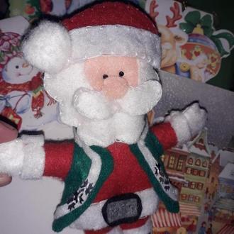 Дед Мороз 🎅 ( новогодняя игрушка из фетра)